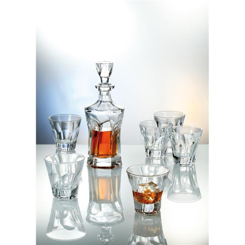 Apollo whisky set 1 + 6 Bohemia