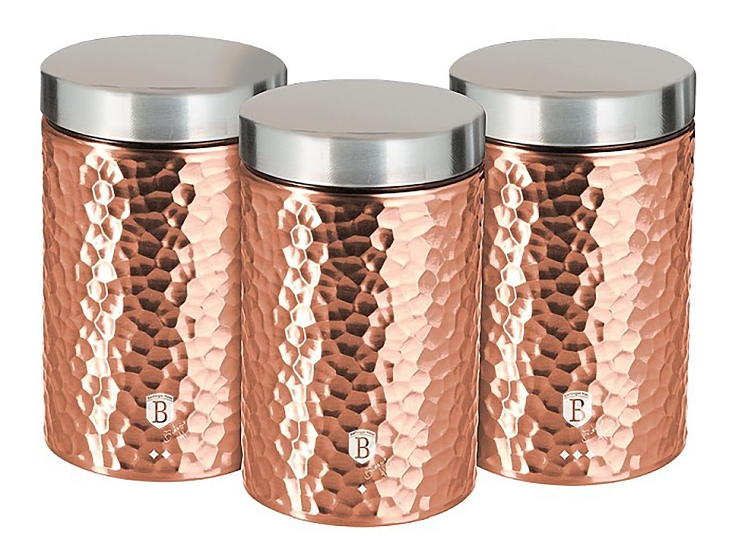 BERLINGERHAUS Dóza na potraviny sada 3 ks Rosegold Collection BH-6715
