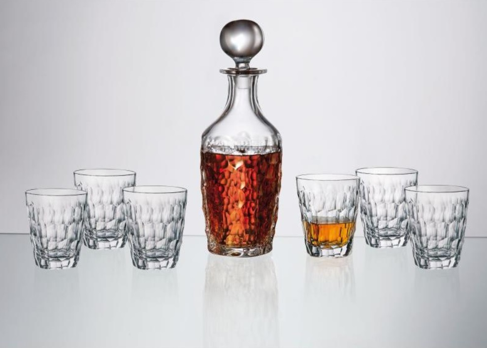 Marble whisky set 1 + 6 Bohemia